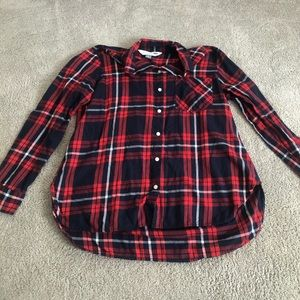 Old Navy Button Down Flannel Plaid